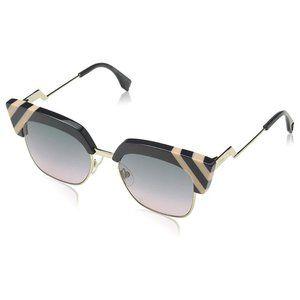 Fendi FF0241/S KB7 GREY Pink Cat-Eye Sunglasses